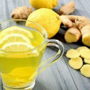 bebida de vinagre, jengibre y zumo de limón