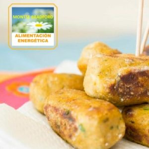 Las croquetas de tempeh son una fuente de proteinas vegetales