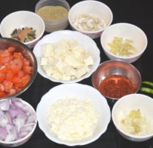 ingredientes shahi paneer