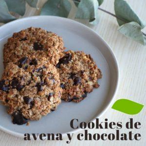 Cookies de avena y Chocolate con nueces