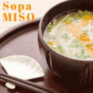 Sopa de miso con jengibre