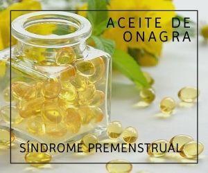 Aceite de onagra para el síndrome premenstrual