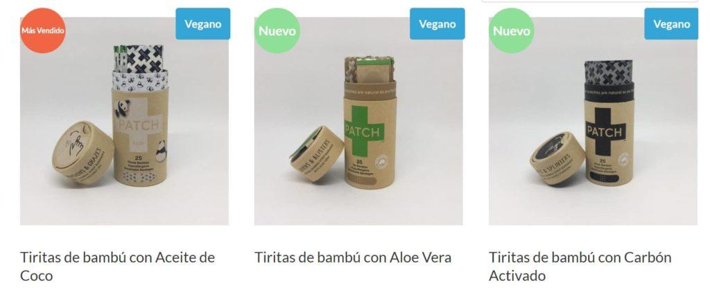 tiritas de bambú