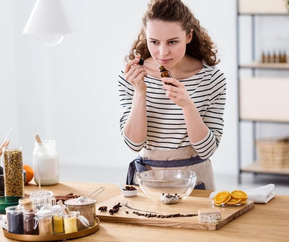 cocinar con aceites esenciales le da más sabor y mantienen suspropiedades curativas