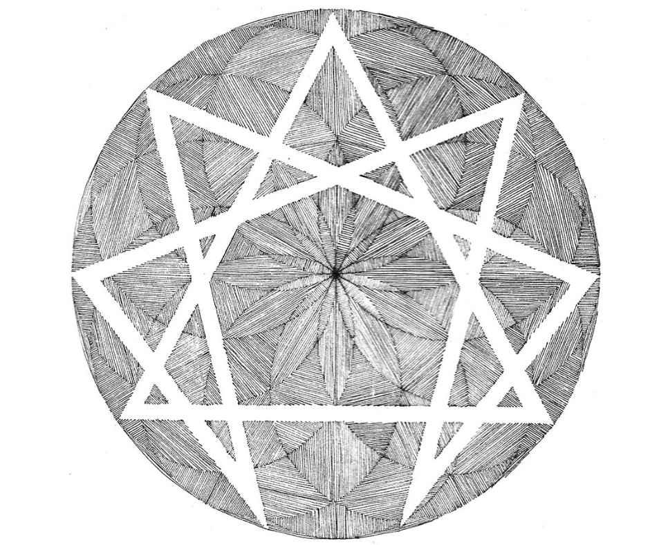 símbolo eneagrama co-crear relaciones conscientes y sanas