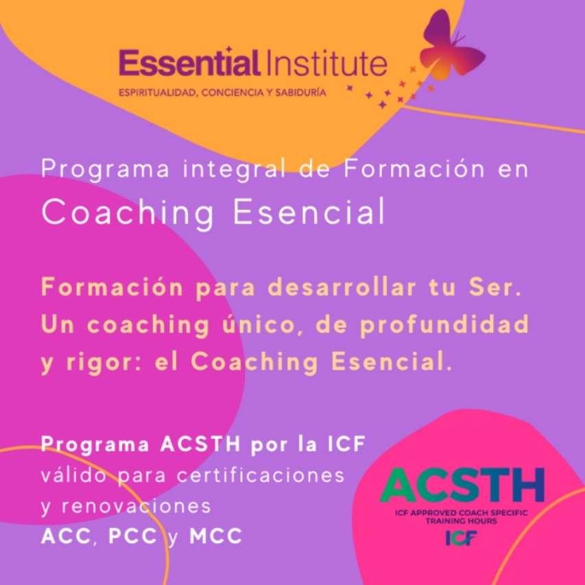 Banner Formación coaching essential institute octubre